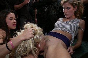 women humiliated bdsm head shave