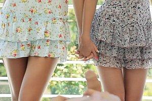 touch under dress in bus